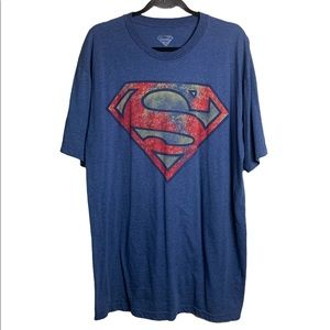 SuperMan Blue Graphic Print T-Shirt XLT